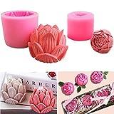 Rose Blume Lotus Kerze Seife Formen Silikon Fondant Form Schokolade Kuchen Dekorieren Formen für...