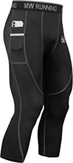 MEETWEE Mens Compression Leggings, Running Tights Cool Dry Base Layer Bottom Sports Pants for Workout Training Jogging