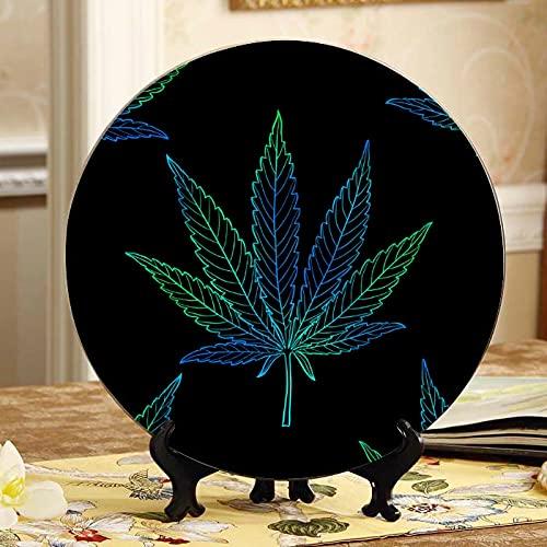 Placas de cerámica de cáñamo orgánico natural para exhibir el hogar con soporte de exhibición para decoración del hogar