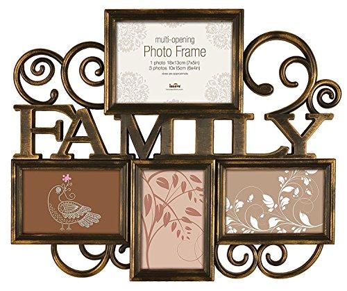 Inova, Cornice multipla per foto'Family', per 4 foto, milano, plastica