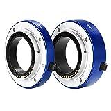 Neewer® - Juego de Tubos de extensión Macro de Enfoque automático (10 mm y 16 mm) para cámara Sony sin Espejo NEX 3/3N/5/5N/5R/A6000/A6300 y Marco Completo A7 A7S/A7SII A7R/A7RII A7II Azul