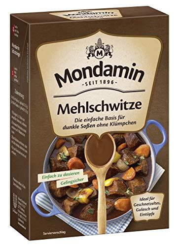Mondamin Klassische Mehlschwitze dunkel (Für vegane und vegetarische Gerichte geeignet), 8er Pack (8 x 250 g)
