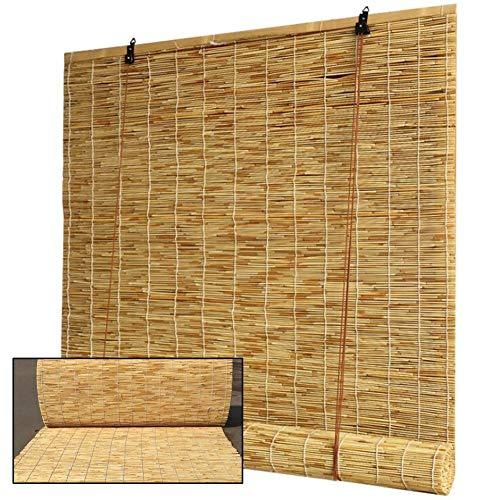 WYCD Rollo Bambus Raffrollo-Holzrollo für Fenster Rollo Fenster Holzjalousie fürTerrasse,Pavillon,Terrasse