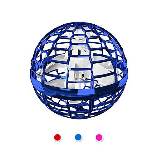 Aiboria Flynova Pro - Juguete volador de Bumerang con trucos interminables, juguete volador, manos libres, helicóptero con luces dinámicas para niños y amigos (azul)