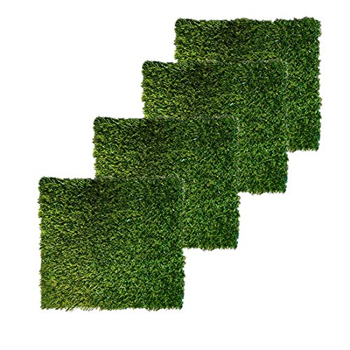 PINVNBY 4 Pcs 12'x12' Nesting Box Pads Artificial Grass Rug Carpet Fake Grass Synthetic Turf Mat for Chicken Coop Pet Garden Lawn Indoor Outdoor