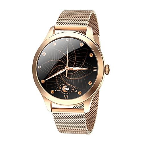 ZGZYL KW10PRO Smart Watch Ladies IP68 Reloj A Prueba De Agua Rastreador De Actividades Bluetooth Pulsera con Presión Arterial/Monitor De Ritmo Cardíaco Blood Oxygen Smart Watch,Oro