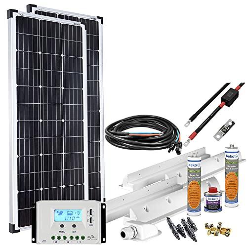 Offgridtec Solaranlage für Wohnwagen 200 Watt / 12 V - Komplett-Set...