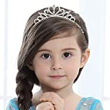 Girls Princess Crystal Tiara Crown For Birthday Party(Style1)