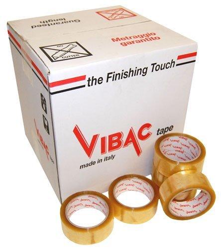 36 rollen (doos) 48mm x 66m duidelijk VIBAC Polyprop oplosmiddel 400 lijm verpakking verpakking tape