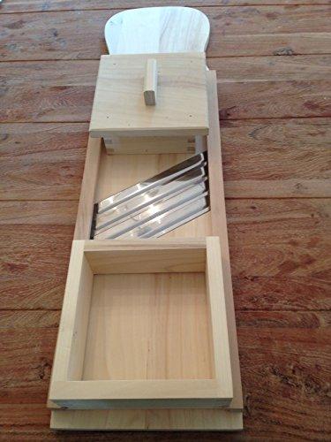 Neuheit Krauthobel, Krautschneider 95 x 24 cm 4 Messer + Fingerschutz
