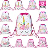 Magigift Unicorn Party Favors Bags Drawstring Gifts Bags for Kids Party Decoration...