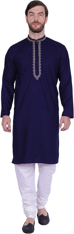 Maple Product Clothing Men's Kurta Pajama Embroidered India Cotton Dress Industry No. 1