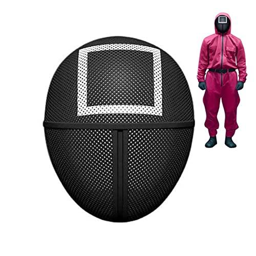 Mascarilla Masked Man Mask, TV sin rostro, máscara de administrador de miedo, accesorios de mascarada para Halloween, accesorios unisex (cuadrado)