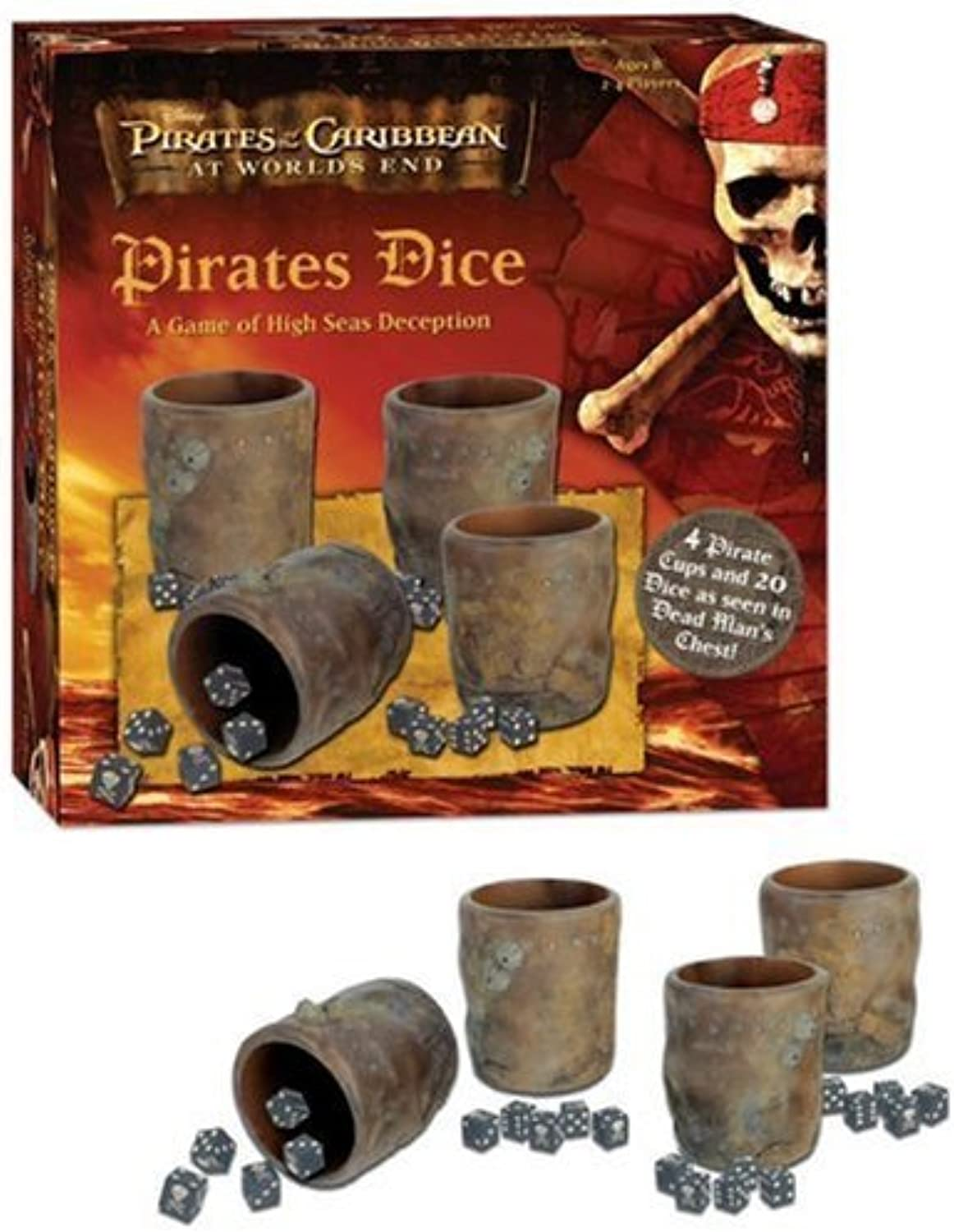 Pirates of the Caribbean Pirates Dice  A Game of High Seas Deception by USAopoly