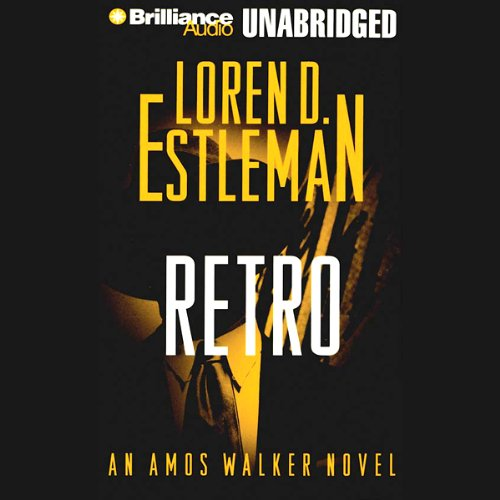 Retro audiobook cover art