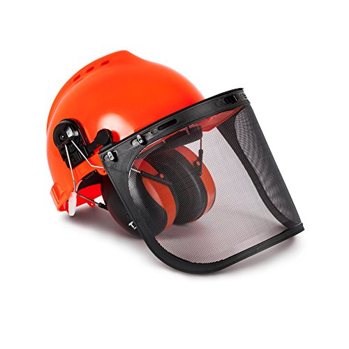 TR Industrial Forestry Safety Helmet and Hearing Protection System (Orange)