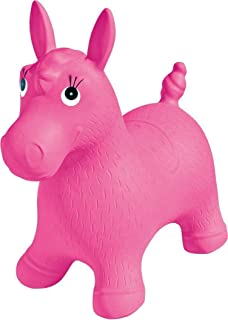 Ride on Bouncing Horse Hopper Inflatable Toy for Girls- Pink