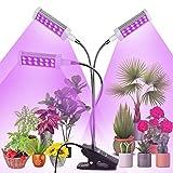 Railee Lampada per Piante, Lampade LED Coltivazione 144 LED Luci Piante con Timer Automatico 3H/6H/12H Plant Grow Light per Semina, Crescita, Fioritura e Fruttificazione, Bulbo Sostituibile