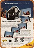 Kilburn 1949 Kodak Filmkameras, Retro-Stil, Kreative Wanddekoration, Persönlichkeit, Trend-Hintergrund, einfacher Stil, Eisen-Gemälde, 8 mm