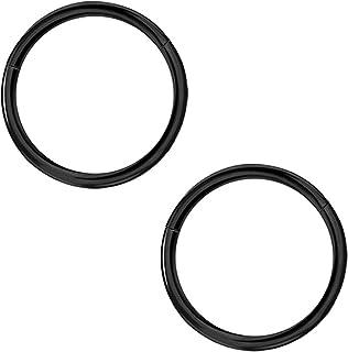 خاتم الأنف ذو الحاجز المتعرج من Afftiny 20G-18G-16G-14G-10G أقراط ثقب الغضروف المفصلية غير الملحومة ، قطر 5 مم -16 مم 316L...