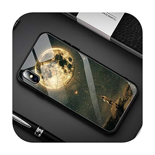 Funda de cristal templado degradado para iPhone 7 8 XR X 6S...