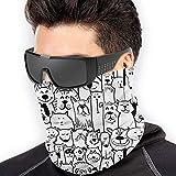 Tengyuntong Calentador de Cuello Deporte Calentador Pasamontañas Polar Máscara, Atrapasueños, cubierta facial, calentador de cuello, bufanda, diadema térmica para adolescentes, mujeres, hombres