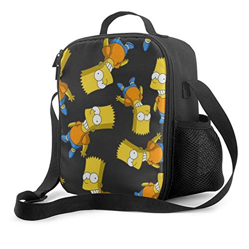 Cartoons Funny Simpsons Insulated Lunch Bags For Women & Men Reusable Lunch Box Office Travel Work Beach Boating Fishing Luncheon Bag