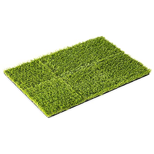 Navaris Alfombrilla de césped Artificial - Set de 6X Alfombra de Hierba sintética Cuadrada 30.3 CM - Recubrimiento Suelo Exterior terraza jardín