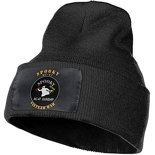 Quintion Robeson Spooky AC 47 Vietnam War Beanie Hat Warm Cable Knit...