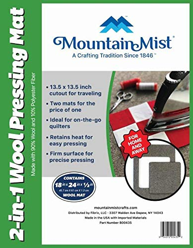 Fantastic Prices! Mountain Mist 2 in 1 Wool Pressing Mat  18 x 24 inches