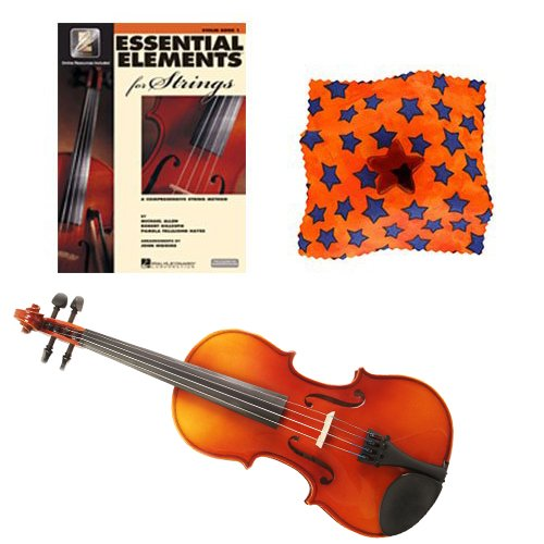 Knilling Europa 1/2 Size Violin Outfit (3K) - with Essential Elements for Strings Violin Book 1 - with BONUS Star Rosin