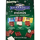 Ghirardelli Holiday Chocolate Assortment, Big Bag of Christmas Mini Squares, Individually Wrapped Candy, 12.2 Ounces