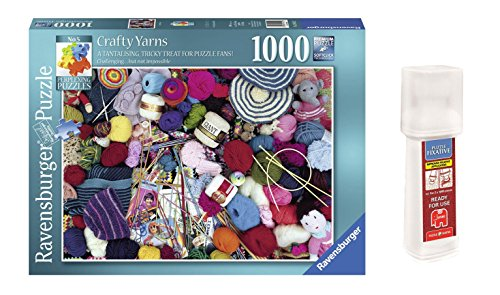 Pack Puzzle Ravensburger 19515. Taller de Costura. Crafty Yarns. 1000 piezas + Pegamento Puzzle