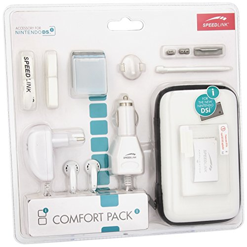 Speedlink Zubehör für Nintendo Handheld (Tasche/Kopfhörer/Ladekabel Steckdose und KFZ/Touchpen/Spielhülle/Mikrofasertuch/Trageriemen) weiß