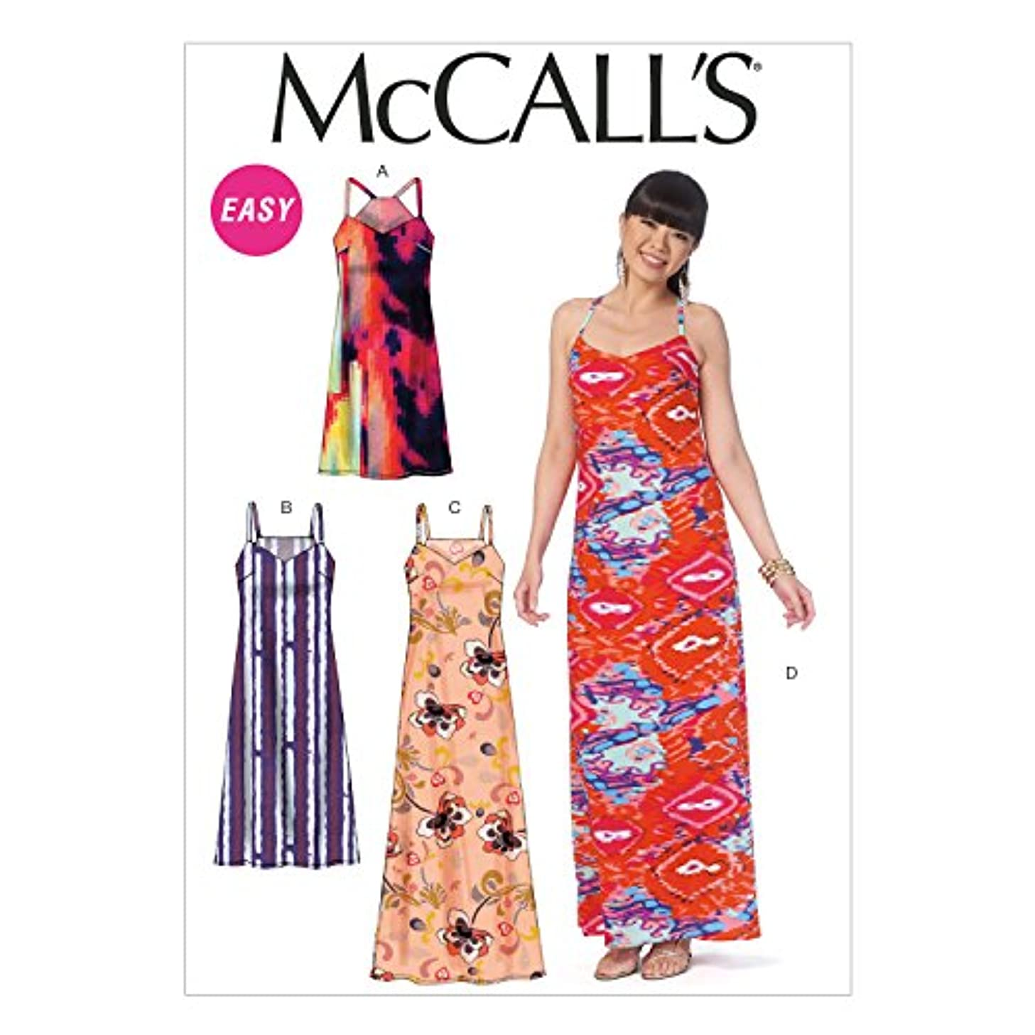 McCall's Patterns M7158 Misses' Dresses Sewing Template, D5 (12-14-16-18-20)