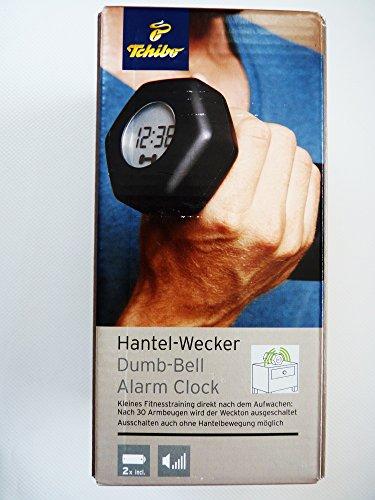 Tchibo TCM Hantel Wecker Dumb Bell Alarm Clock schwarz