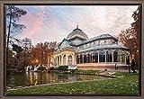 TEXFOTO Cuadro Enmarcado - Palacio de Cristal en el Retiro Madrid - Fotografía artística y Moderna Listo para Colgar - Hecho a Mano en España (40_x_60_cm)