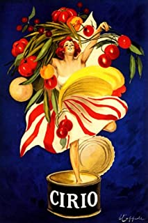 WONDERFULITEMS CIRIO Italian Canned Food Company Woman Holding Vegetables in CAN Italy Cappiello 16