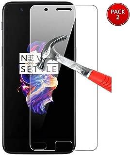 MSOSA OnePlus 5 Protector de Pantalla, 2Pack, Pantalla de Vidrio Templado, garantía de por Vida, dureza 9H, claridad de Cristal, Resistente a los rasguños, película de Pantalla para OnePlus 5