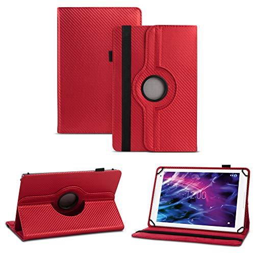 NAUC Schutz-Hülle Medion Lifetab S10351 S10352 Hülle Tasche Cover Tablet-Case, Farben:Rot