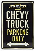 アメリカ雑貨 ブリキ看板 シボレー CHEVY TRUCK PARKING ONLY CHEVROLET 雑貨 インテリア 壁面装飾 おしゃれ ポスター アンティーク