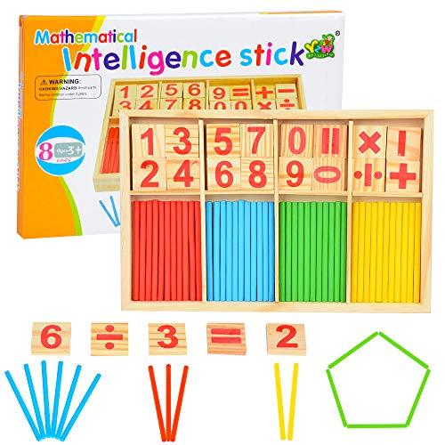 MMTX Set di Giochi Montessori in Legno, Montessori Bastoncini, Giocattolo matematico...