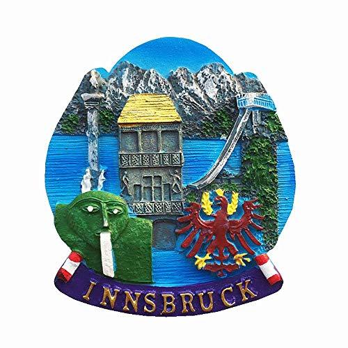 Innsbruck Tirol Österreich 3D-Kühlschrankmagnet Alpen Tourist Souvenir Geschenkkollektion Heimküche Dekoration Magnetaufkleber Innsbruck Österreich Kühlschrankmagnet Kollektion