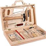 Millster Werkzeugkoffer Kind - Werkzeugkoffer Kind ,Multifunktionaler Holzbearbeitungs Werkzeugkasten Aus Holz Für Kid