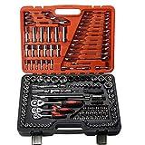 WEATLY 150 Sets SF Auto Repair Kit Taller de reparación de automóviles Mecánico Profesional Llave de trinquete Herramienta Socket