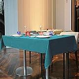 Balcony&Falcon Tischdecke Leinenoptik tischdecke abwaschbar Tischtuch Leinen Tischläufer Tischwäsche Eckig Wasserdicht Tischdecke Blau 145 x300 - 2
