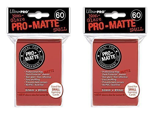 Ultra Pro Red Small Pro-Matte Deck Protectors Sleeves Colors Yugioh Vanguard [2 Pack of 60] 43204-18221