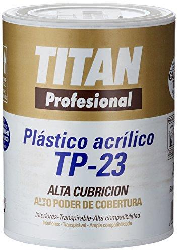 Titan 123000301 Bote Pintura Acrílico TP-23, Blanco Mate