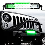 XKGLOW 10' 2-in-1 LED Light Bar w/Pure White & Green Hunting Fishing Modes for Off-Road Truck UTV/ATV w/Free Wiring Harness and 3 Year Warranty
