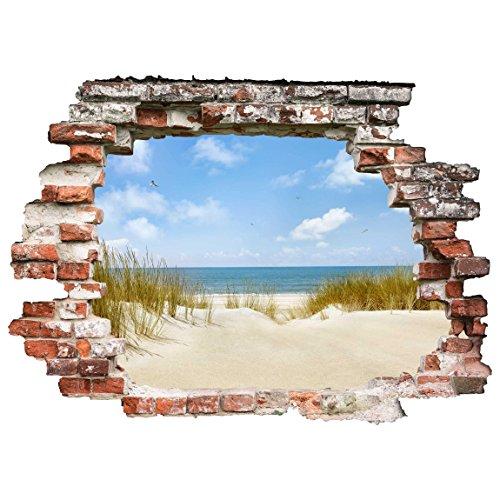 Bilderwelten 3D Wandtattoo - Strand an der Nordsee - Quer 3:4, Größe: 30cm x 40cm